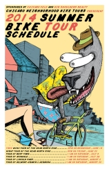 Summer Schedule poster for Chicago Neighborhood Bike Tours