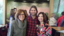 Lisa and I with our awesome agent, Loretta Cavarette