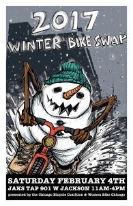 Chicago's Winter Bike Swap poster #winterbikeswap #posterart