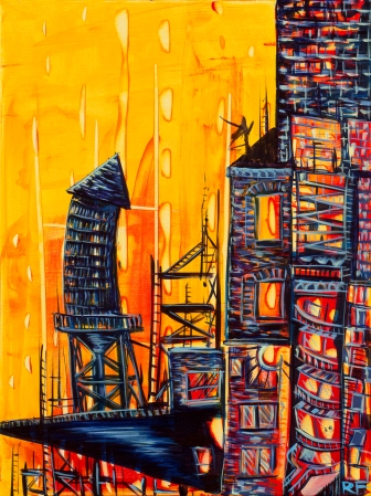 """City Night Lights # 21. 16""""x20"""". Prints available for purchase upon request."""