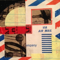 """AIR MAIL. 2""""x2"""" collage study."""