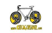 Logo for Chicago Reader's Bike Tent at Pitchfork. #bikervillage #chicagoreader #rossfeltenart #chicagovelo