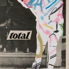 """""""Total"""". 9""""x12"""" mixed media on canvas board."""