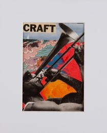 """Craft"". 5""x7"" mixed media on canvas board."