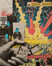 """The Men of Tomorrow"". 8""x10"" mixed media on canvas board."