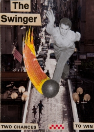 """""""The Swinger"""". 5""""x7"""" mixed media on canvas board."""