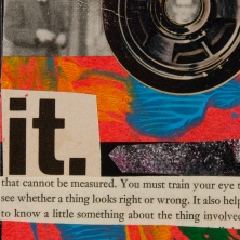 """""""What Is It"""". 5""""x7"""" mixed media on canvas board."""