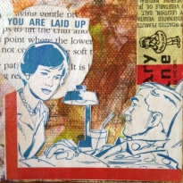 """LAID UP. 2""""x2"""" collage study."""
