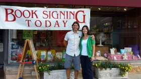 Book signing at The Bookstore in Glen Ellyn. Thank you Jane!