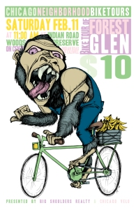 Poster for Chicago Neighborhood Bike Tours #chicagovelo
