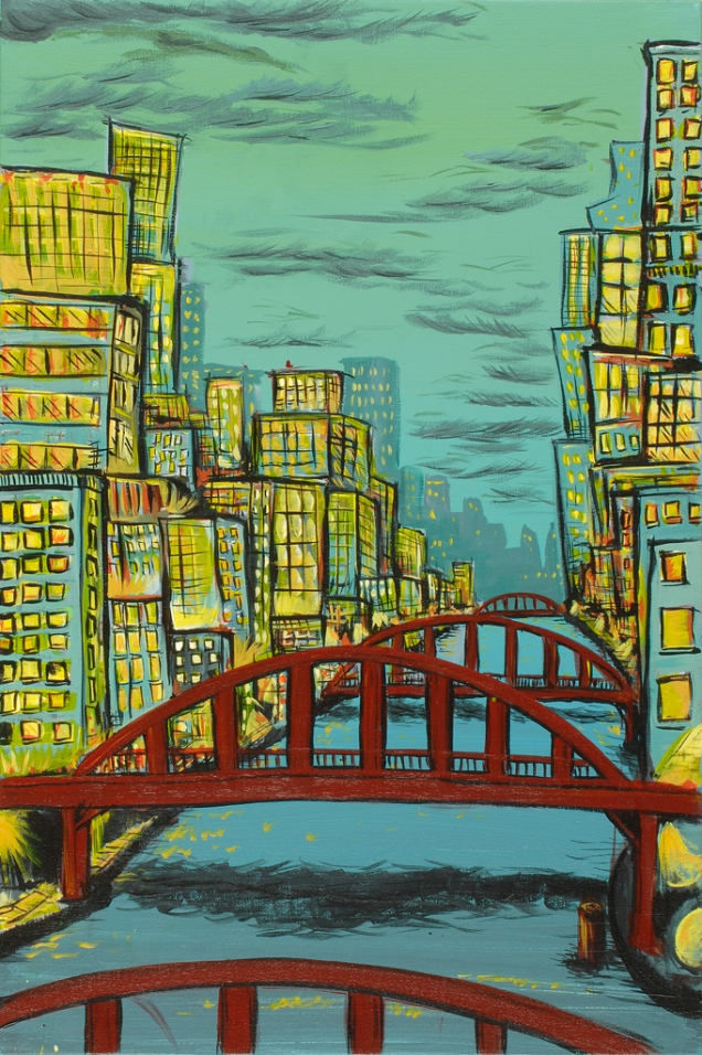 """24""""x36"""". Acrylic on canvas. SOLD.*prints available upon request."""