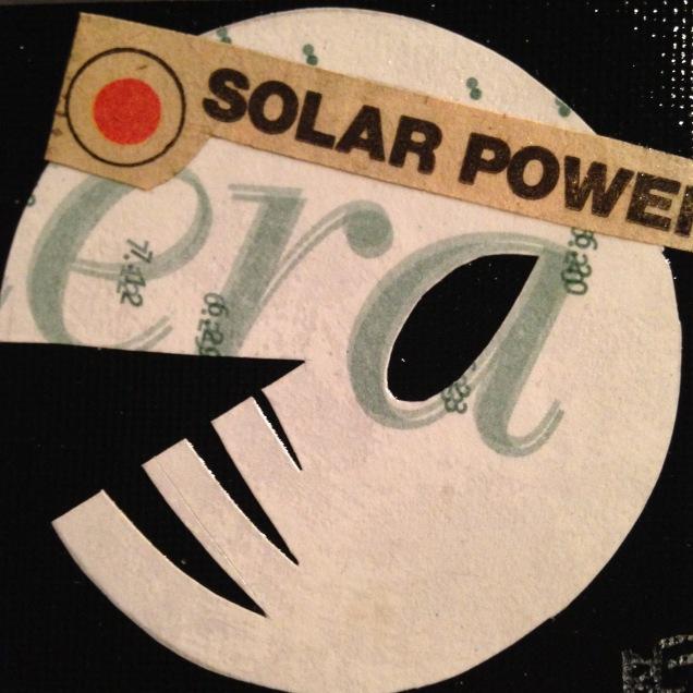 "SOLAR POWER. 2""x2"" collage study."