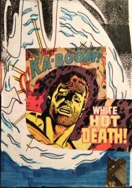 "WHITE HOT DEATH! 5""x7"" collage study."