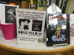 Attending an illustrator visit at Forest Glen Elementary, my old school where I began drawing comic heroes on rainy days in the library.