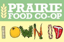 illustration for the New Member cards for Prairie Food CO-OP. Join today and support local, sustainable food in the Midwest.