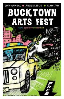 poster illustration for Bucktown Arts Fest.